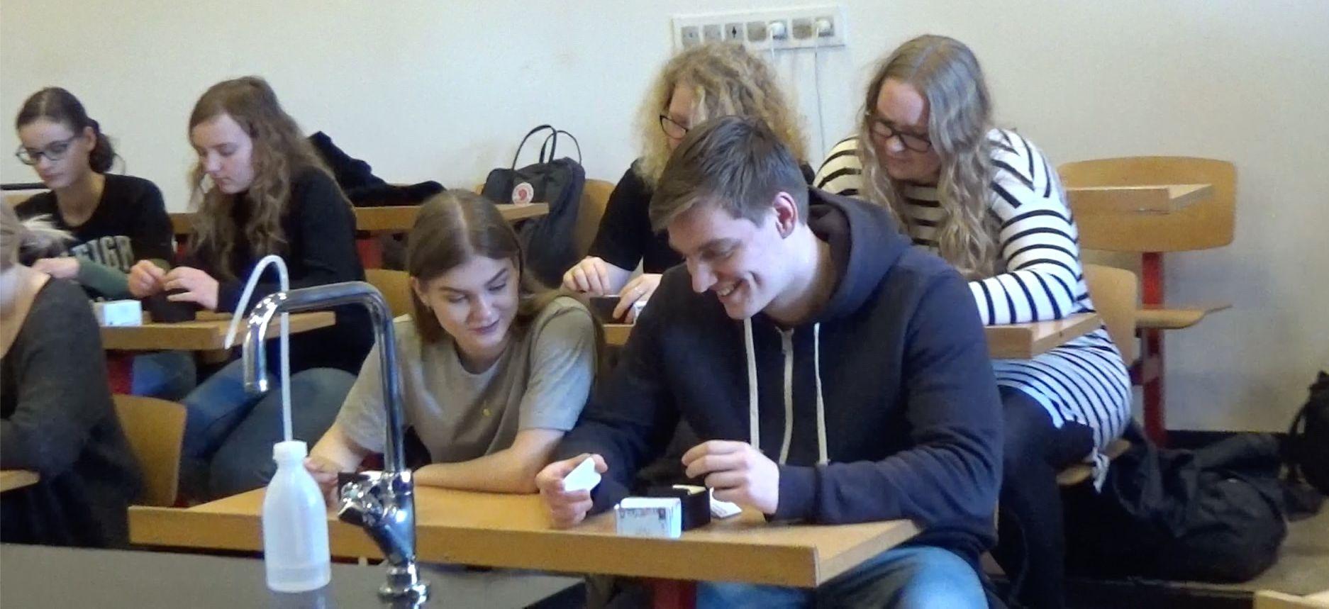 Elever arbejder med ABCbox